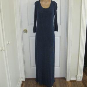 Vintage Carole Little long dress, blue, Sz S